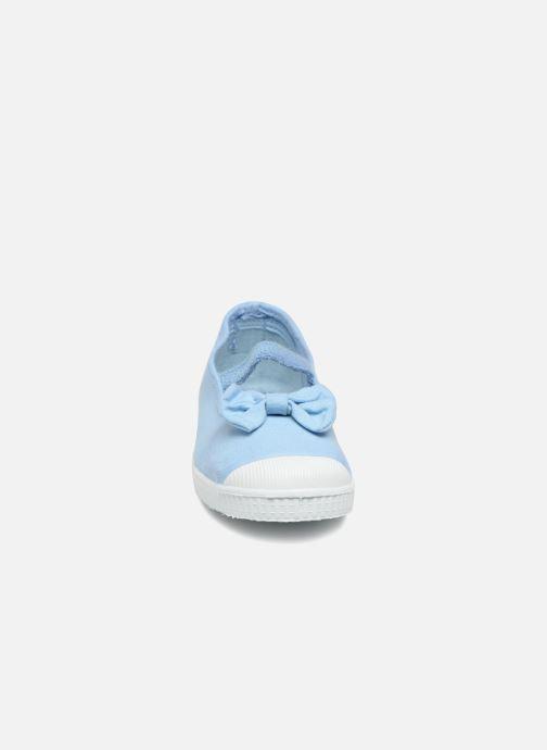 Ballerines Cienta Valentina Bleu vue portées chaussures
