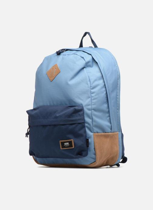 Schulzubehör Vans Old school plus backpack blau schuhe getragen
