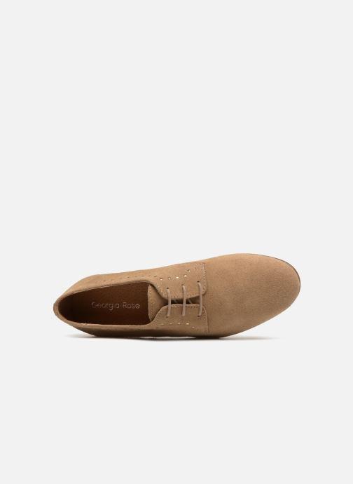 Chaussures à lacets Georgia Rose Aliclous Beige vue gauche