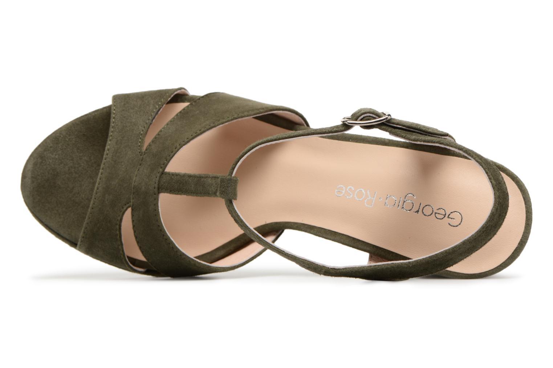 Sandales et nu-pieds Georgia Rose Lapatou Vert vue gauche