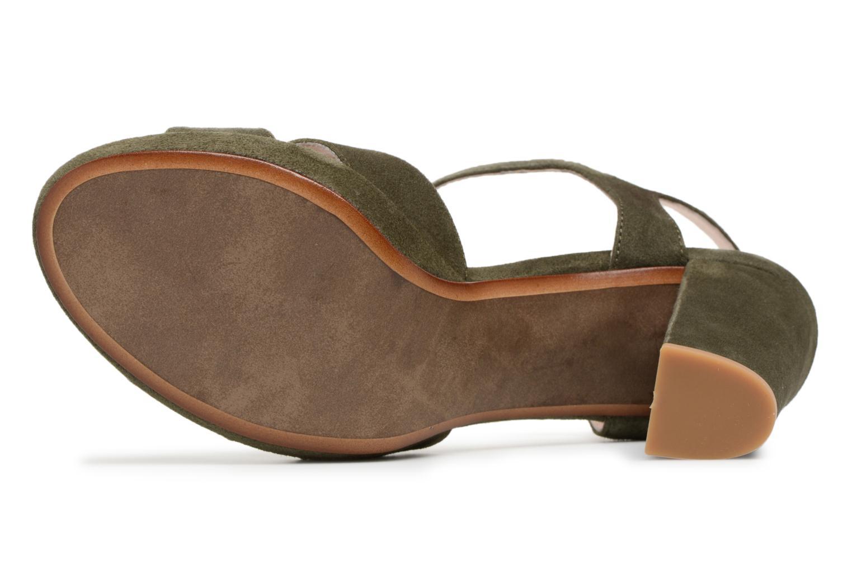 Sandales et nu-pieds Georgia Rose Lapatou Vert vue haut