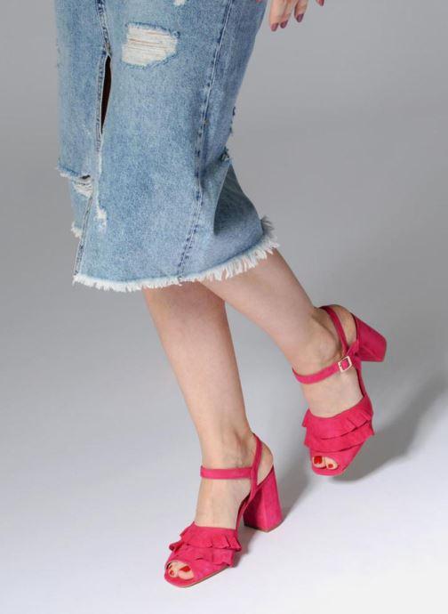 Sandales et nu-pieds Georgia Rose Anvola Rose vue bas / vue portée sac