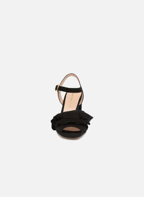 Sandales et nu-pieds Georgia Rose Anvola Noir vue portées chaussures