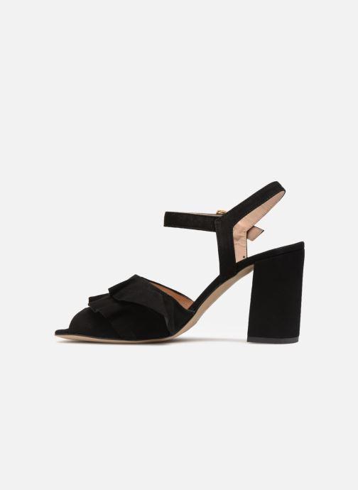Sandales et nu-pieds Georgia Rose Anvola Noir vue face