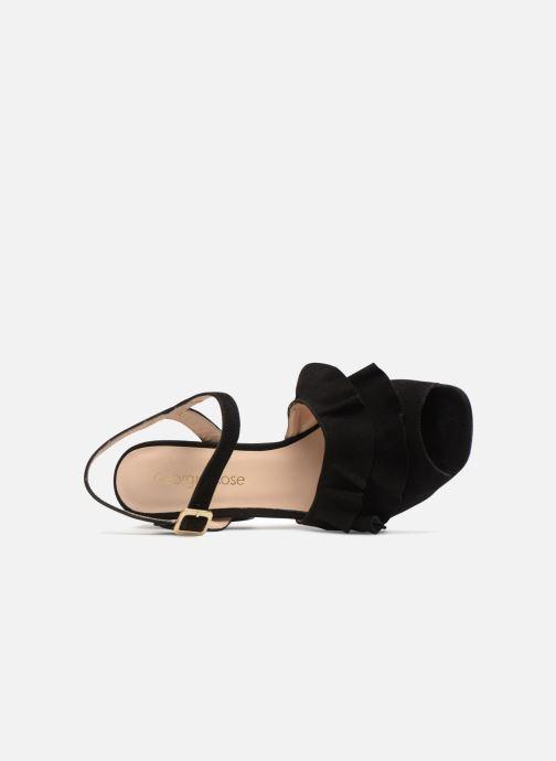 Sandales et nu-pieds Georgia Rose Anvola Noir vue gauche