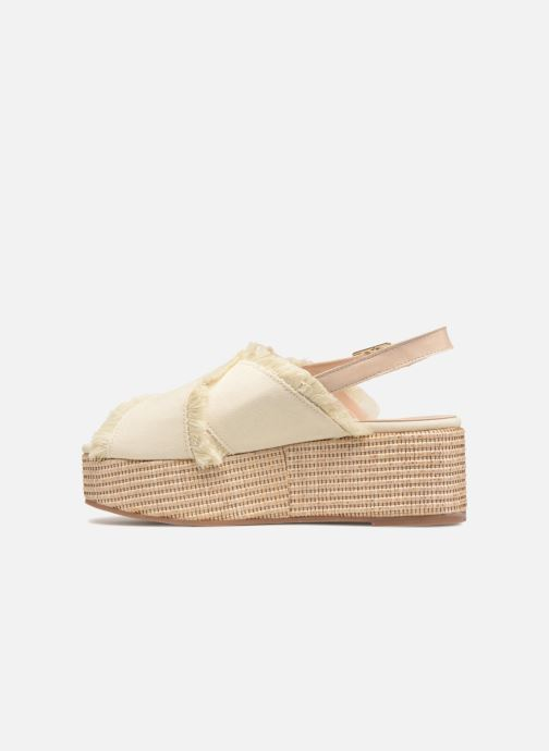 Sandalias Georgia Rose Afrane Beige vista de frente