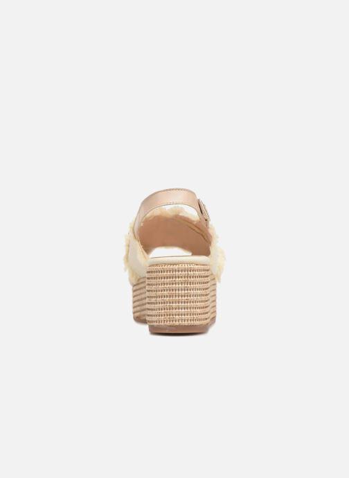 Sandales et nu-pieds Georgia Rose Afrane Beige vue droite