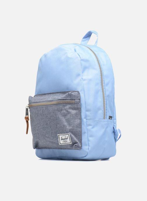 Zaini Herschel Grove XS Azzurro modello indossato