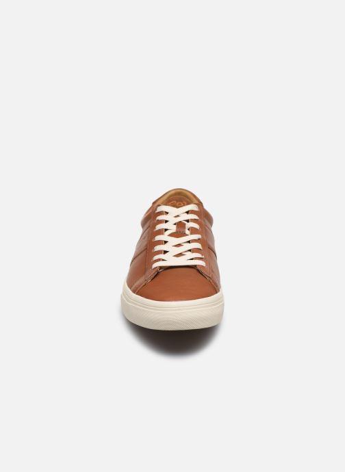 Baskets Polo Ralph Lauren Sayer Marron vue portées chaussures