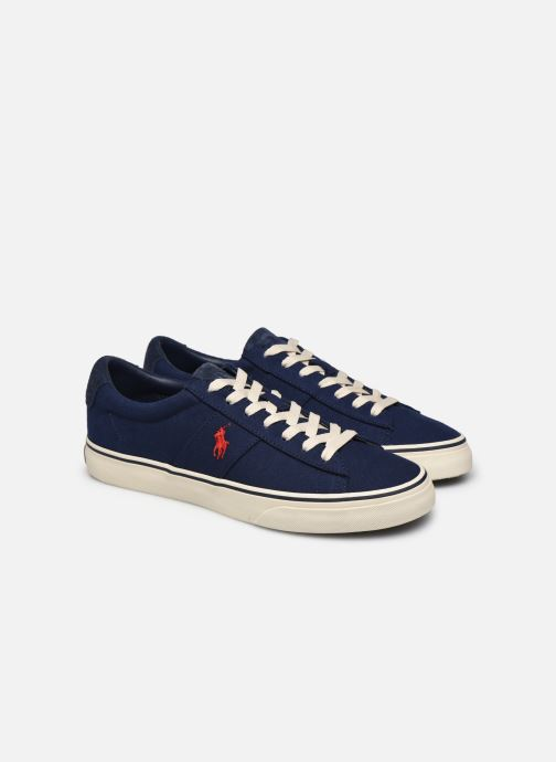 Baskets Polo Ralph Lauren Sayer Bleu vue 3/4