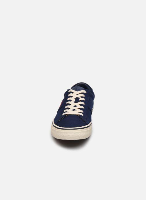Baskets Polo Ralph Lauren Sayer Bleu vue portées chaussures