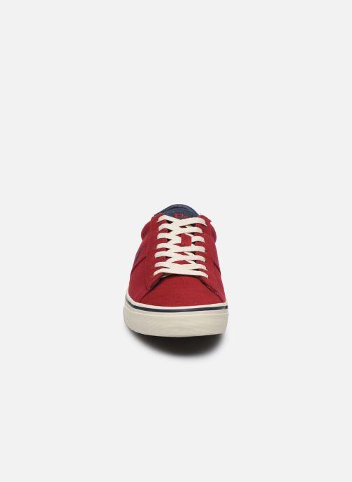 Baskets Polo Ralph Lauren Sayer Rouge vue portées chaussures