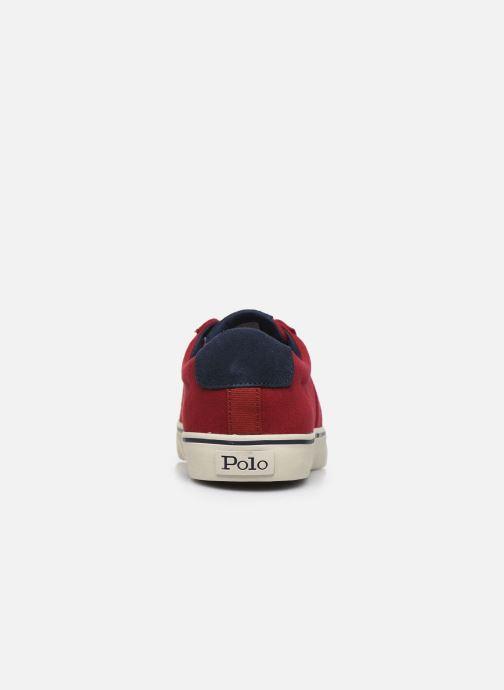 Baskets Polo Ralph Lauren Sayer Rouge vue droite