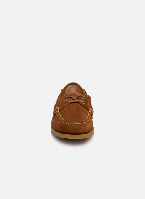 Chaussures à lacets Polo Ralph Lauren Merton Marron vue portées chaussures