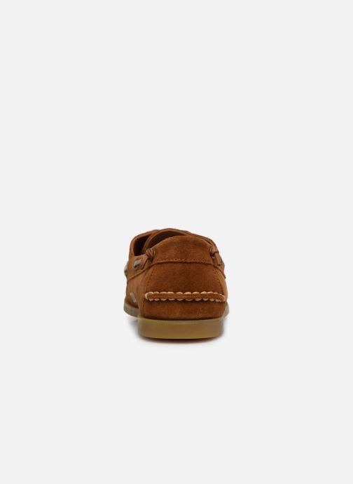 Chaussures à lacets Polo Ralph Lauren Merton Marron vue droite