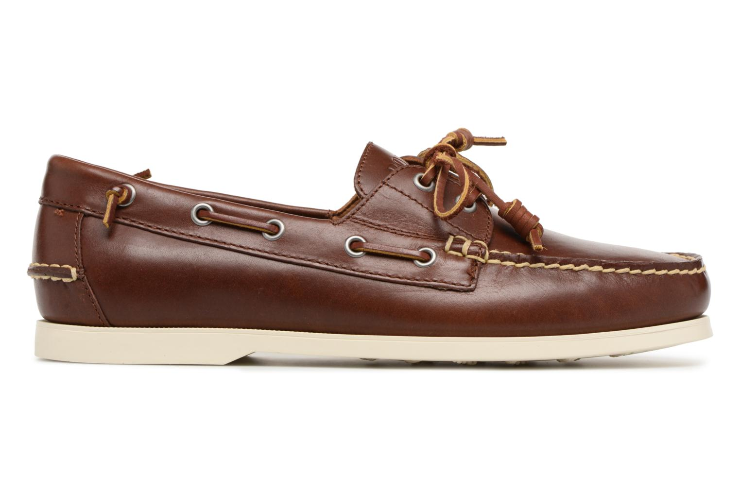 Lace-up shoes Polo Ralph Lauren Merton Brown back view