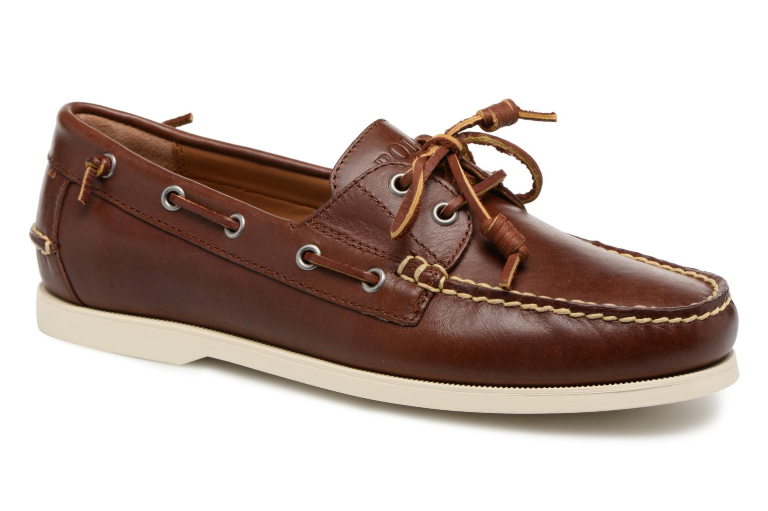 Lace-up shoes Polo Ralph Lauren Merton Brown detailed view/ Pair view