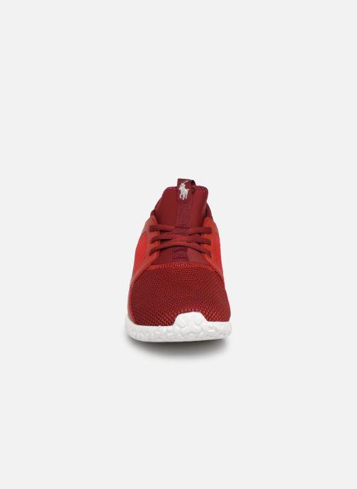 Baskets Polo Ralph Lauren Train150 Rouge vue portées chaussures