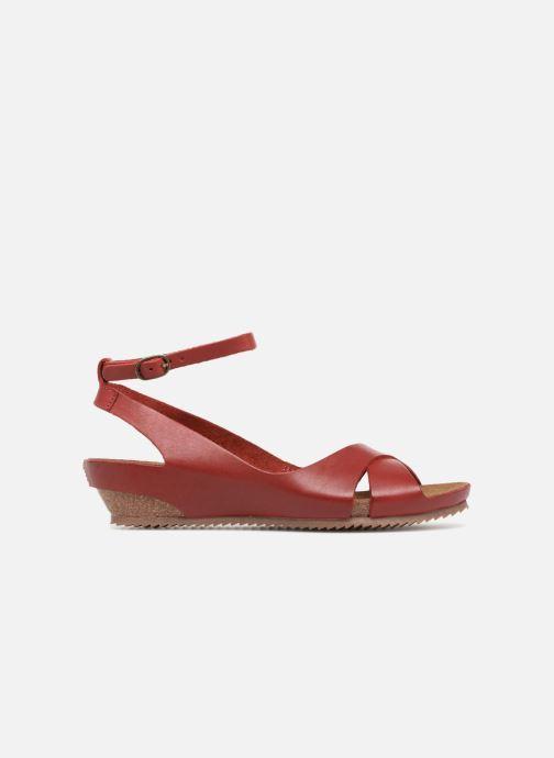 Sandales et nu-pieds Kickers Toki Rouge vue derrière