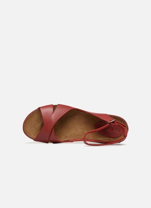 Sandales et nu-pieds Kickers Toki Rouge vue gauche