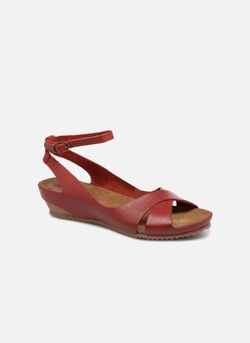Sandales et nu-pieds Kickers Toki Rouge vue détail/paire