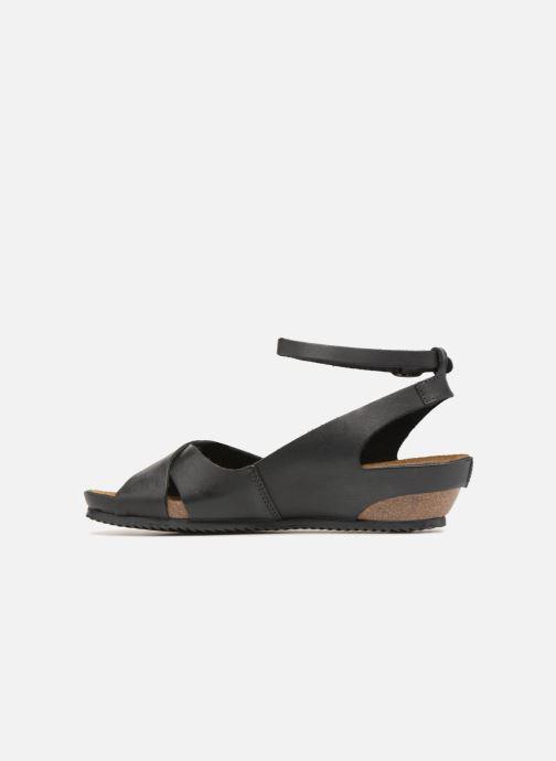 Sandales et nu-pieds Kickers Toki Noir vue face