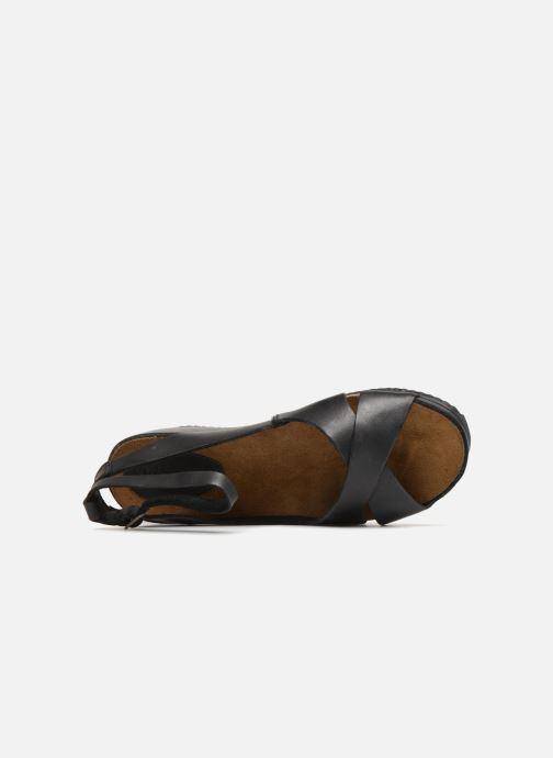 Sandalen Kickers Toki schwarz ansicht von links