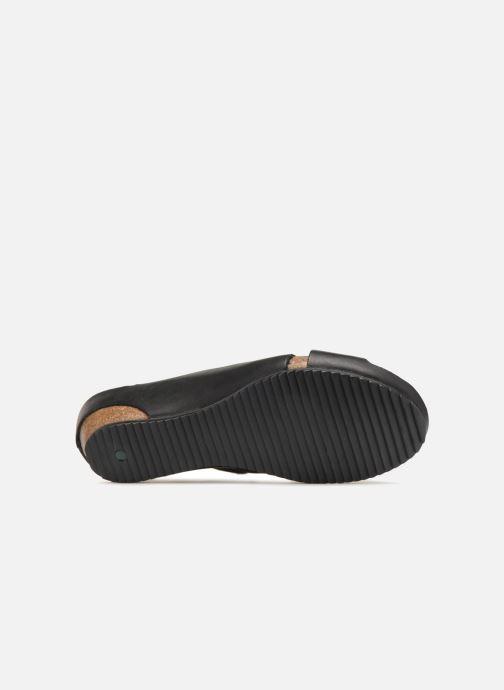 Sandales et nu-pieds Kickers Toki Noir vue haut