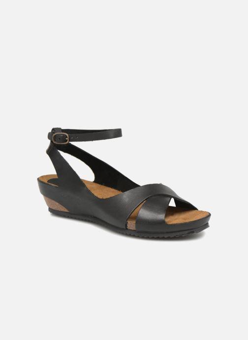 Sandales et nu-pieds Kickers Toki Noir vue détail/paire
