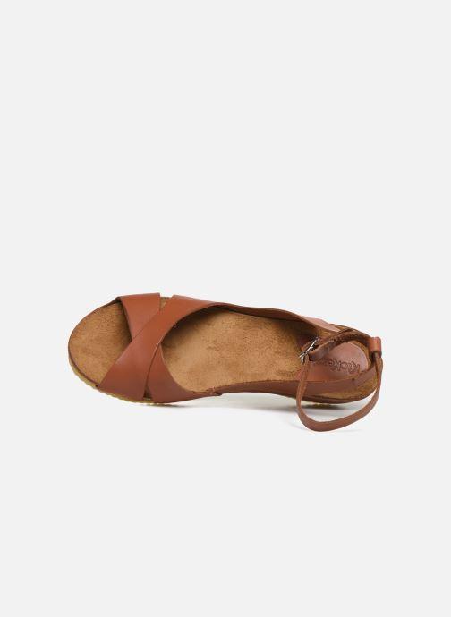 Sandales et nu-pieds Kickers Toki Marron vue gauche