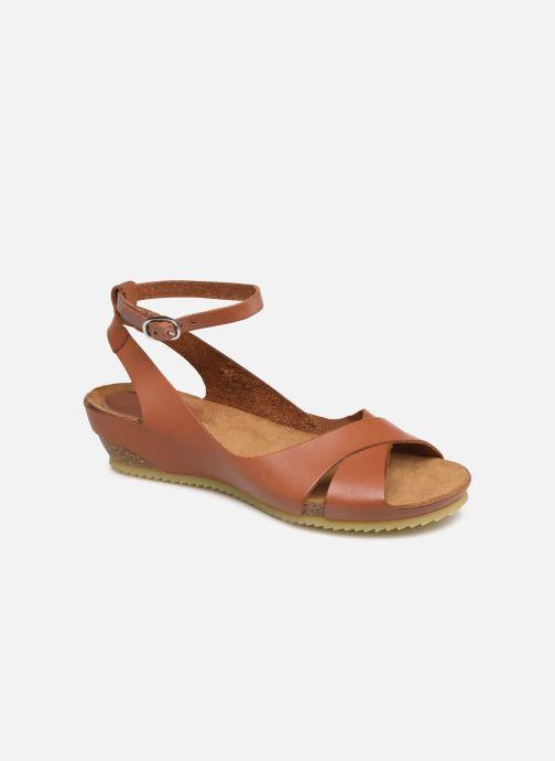 Sandales et nu-pieds Kickers Toki Marron vue détail/paire