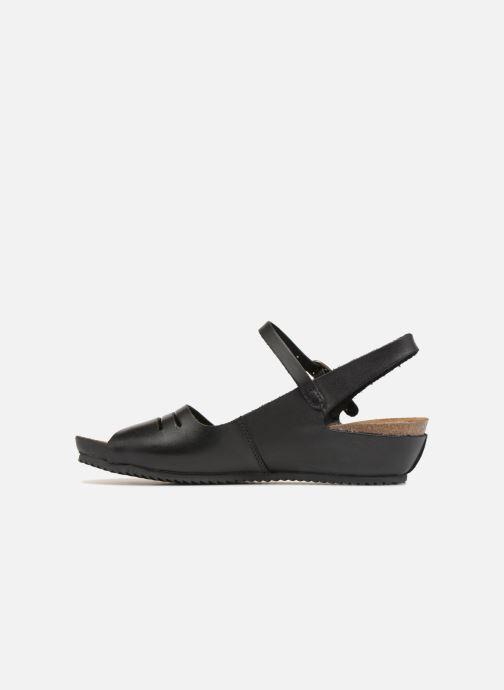 Sandales et nu-pieds Kickers Tokimas Noir vue face