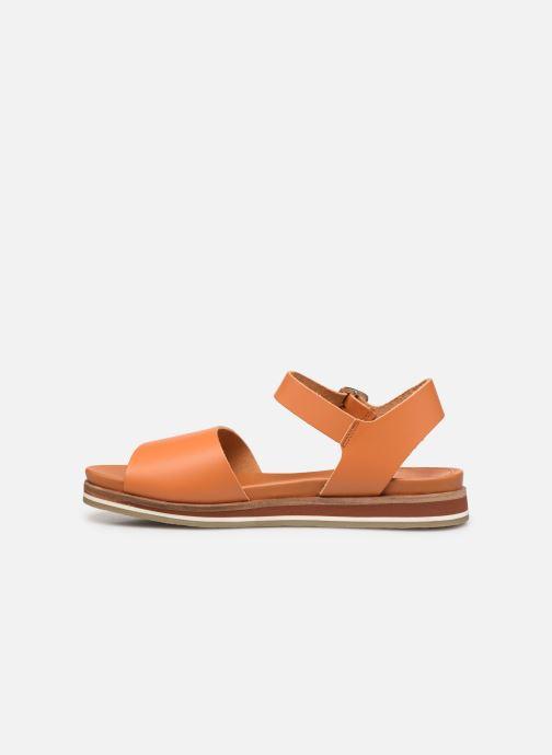 Sandales et nu-pieds Kickers Olimpi Orange vue face