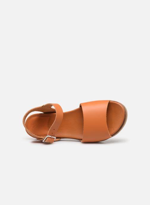 Sandales et nu-pieds Kickers Olimpi Orange vue gauche
