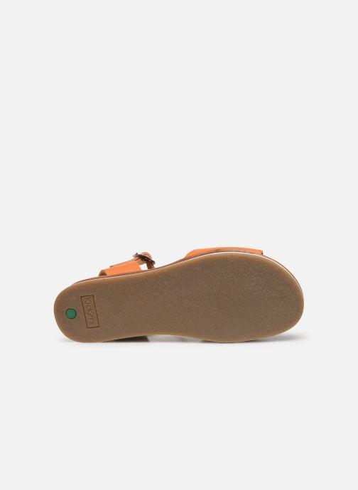 Sandales et nu-pieds Kickers Olimpi Orange vue haut