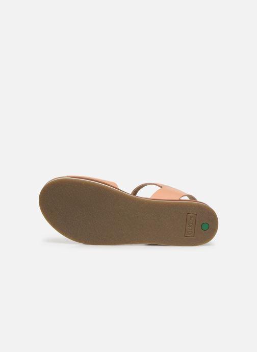 Sandales et nu-pieds Kickers Olimpi Rose vue haut