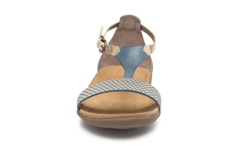 Sandales et nu-pieds Kickers Amistad Bleu vue portées chaussures