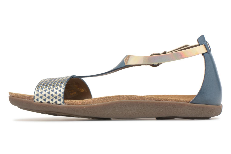 Sandales et nu-pieds Kickers Amistad Bleu vue face