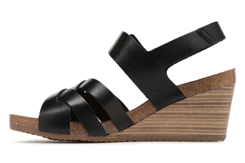 Sandales et nu-pieds Kickers Spicy Noir vue face