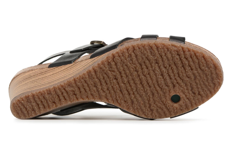 Sandales et nu-pieds Kickers Spicy Noir vue haut