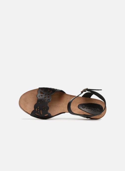Sandales et nu-pieds Kickers Simply Noir vue gauche