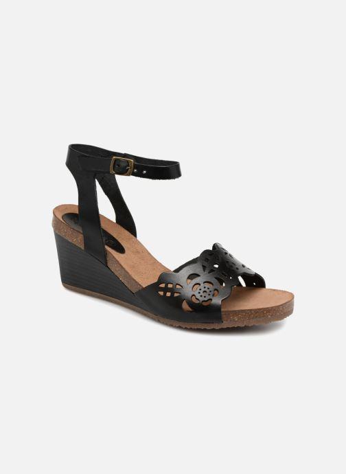Sandales et nu-pieds Kickers Simply Noir vue détail/paire