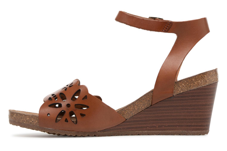 Sandales et nu-pieds Kickers Simply Marron vue face