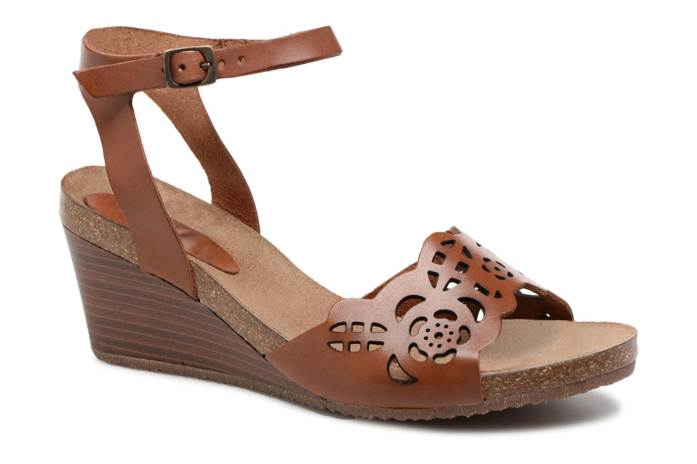 Sandales et nu-pieds Kickers Simply Marron vue détail/paire
