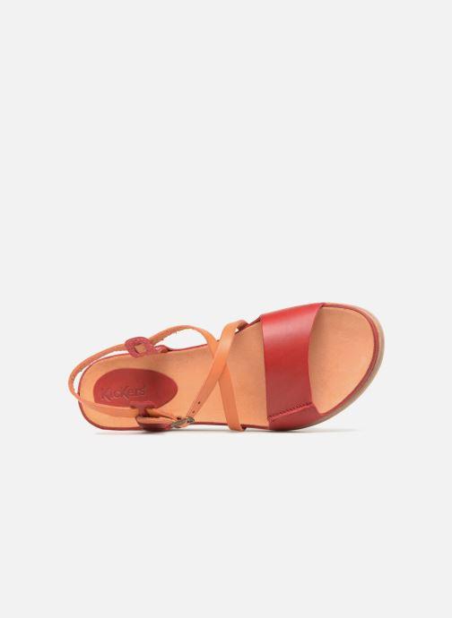 Sandales et nu-pieds Kickers Tahiti Femme Rouge vue gauche