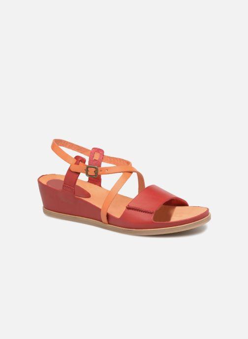 Sandales et nu-pieds Kickers Tahiti Femme Rouge vue détail/paire