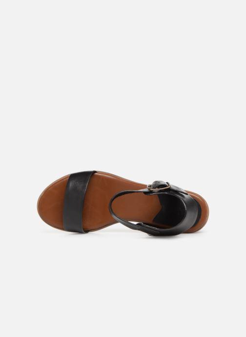 Sandales et nu-pieds Kickers Volou Noir vue gauche