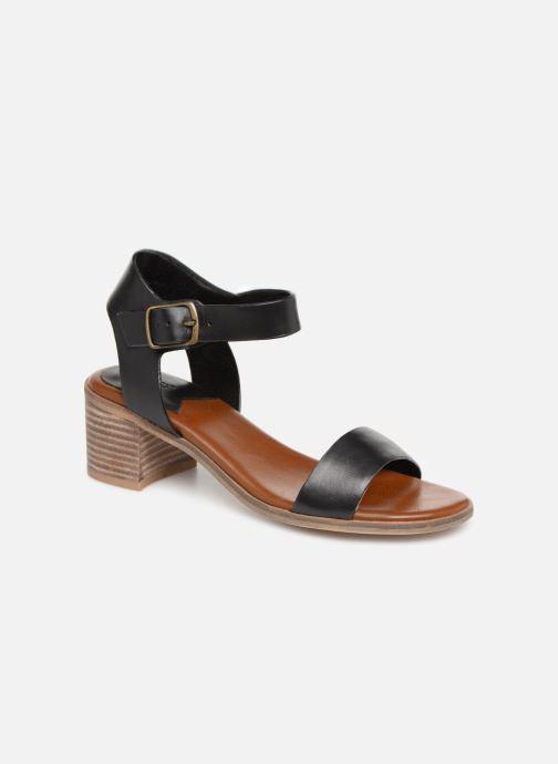 Sandales et nu-pieds Kickers Volou Noir vue détail/paire