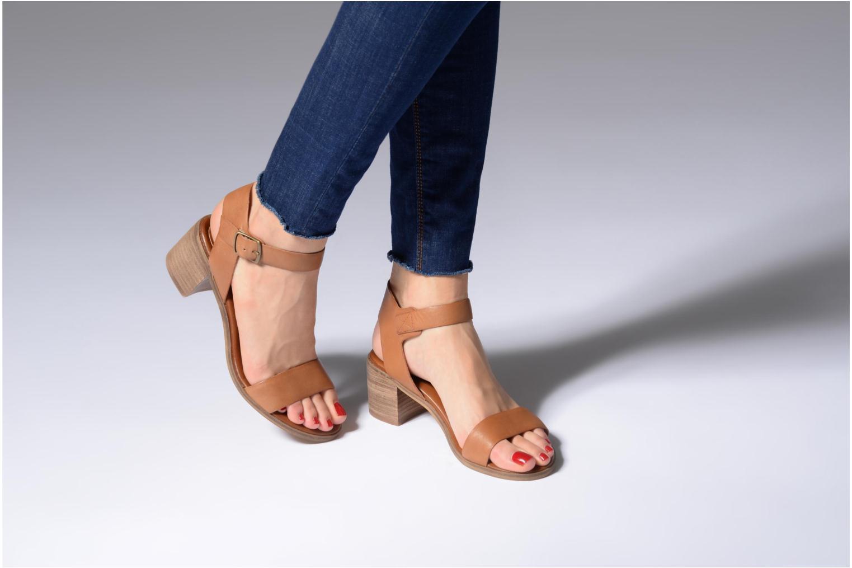 Sandales et nu-pieds Kickers Volou Marron vue bas / vue portée sac