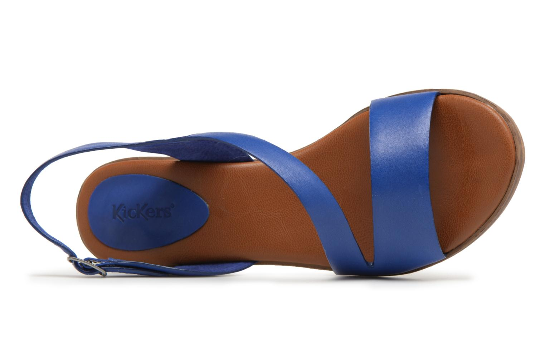 Sandales et nu-pieds Kickers Volubil Bleu vue gauche
